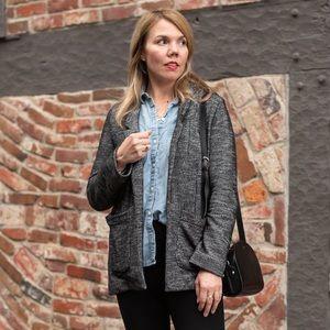 Topshop knit tweed blazer jacket sz 8